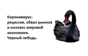 """chernyj lebed 1 300x190 - Инвесторы сбиты с толку ростом фондового рынка США при """"чудовищном"""" экономическом кризисе"""